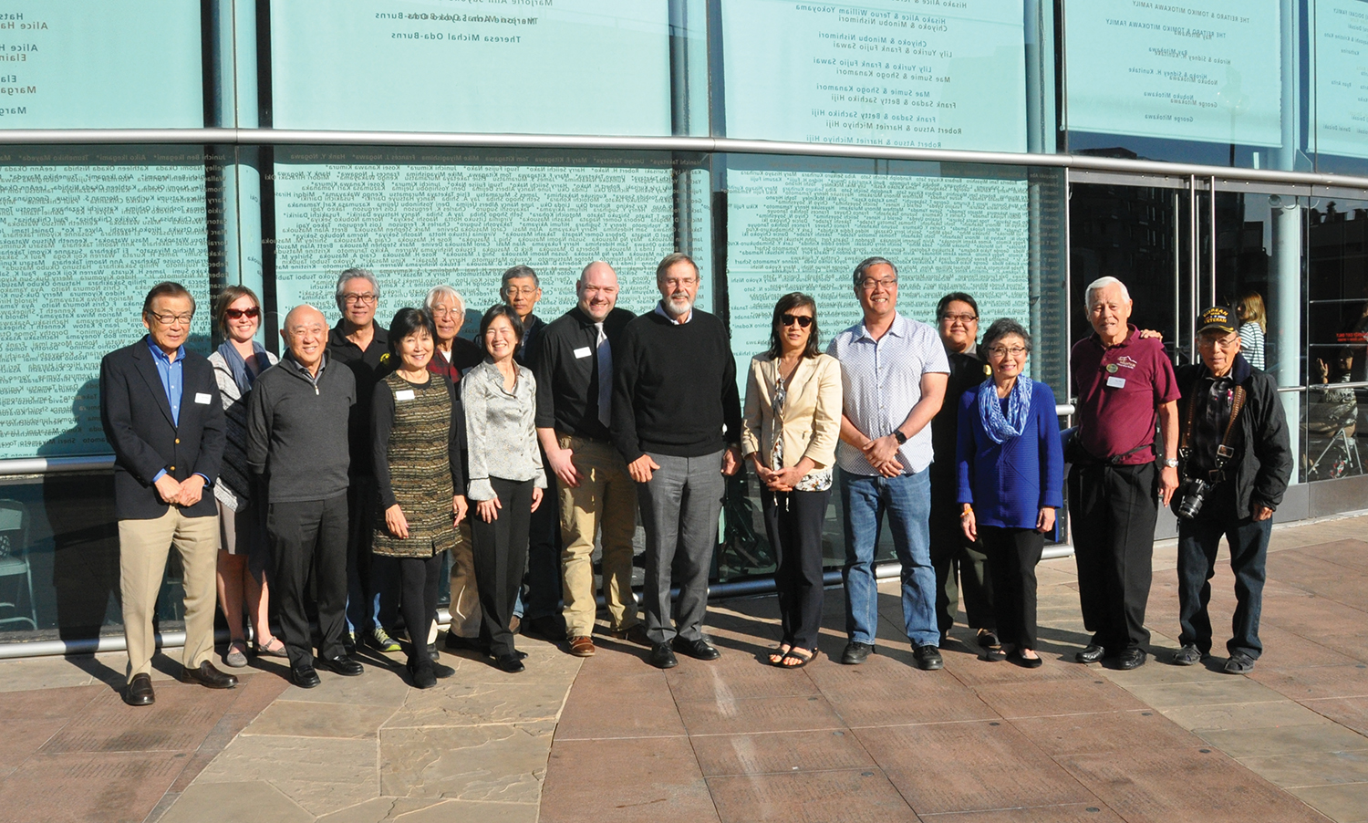 Photo of Heart Mountain Wyoming Foundation leadership at the Japanese American National Museum.